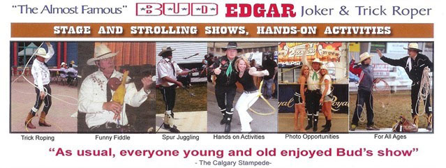 Trick Roping, Funny Fiddle, Cowboy Poetry, Juggling and More